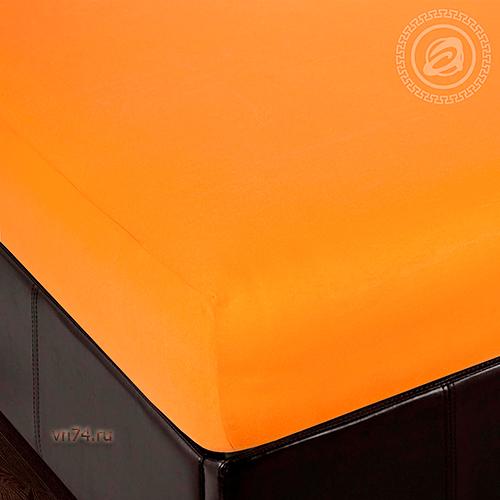 Простыня трикотажная на резинке Арт Дизайн апельсин (хлопок)