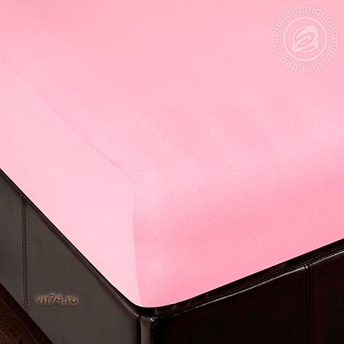 Простыня трикотажная на резинке Арт Дизайн брусника (хлопок)