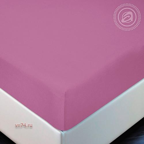 Простыня трикотажная на резинке Арт Дизайн фиалка (хлопок)
