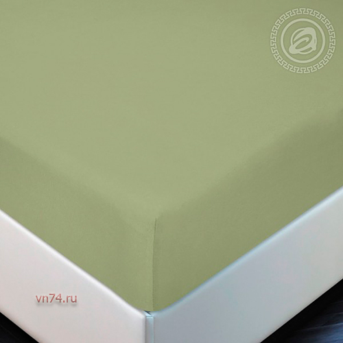 Простыня трикотажная на резинке Арт Дизайн хакки (хлопок)