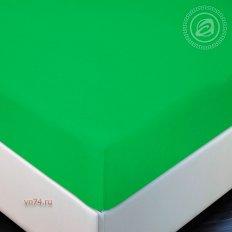 Простыня трикотажная на резинке Арт Дизайн лайм (хлопок)