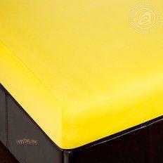 Простыня трикотажная на резинке Арт Дизайн лимон (хлопок)
