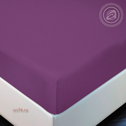 Простыня трикотажная на резинке Арт Дизайн слива (хлопок)