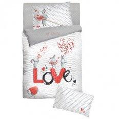 Детское постельное белье с резинкой на простыне Облачко Candy (бязь-люкс)