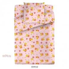 Детское постельное белье Маленькая Соня Медвежонок розовый (поплин)