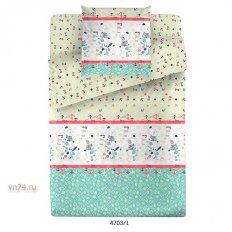 Детское постельное белье Маленькая Соня с резинкой на простыне Юнга (поплин)