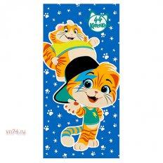 Полотенце махровое 44 Котенка Мальчики синий