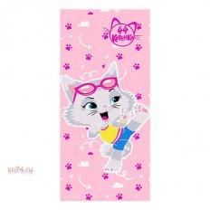 Полотенце махровое 44 Котенка Миледи розовый