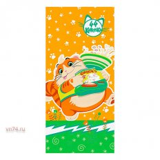 Полотенце махровое 44 Котенка Пончик оранжевый