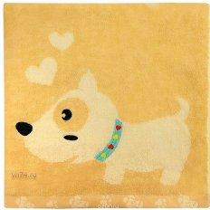Полотенце махровое Забавный щенок бежевый