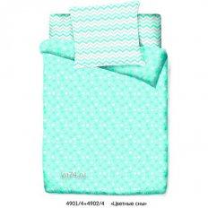Детское постельное белье Маленькая Соня Цветные сны бирюзовый (поплин)