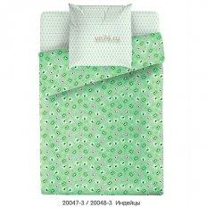 Детское постельное белье Маленькая Соня Индейцы зеленый (поплин)