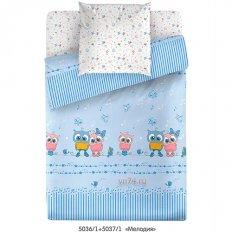 Детское постельное белье Маленькая Соня Мелодия голубой (поплин)