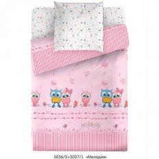 Детское постельное белье Маленькая Соня Мелодия розовый (поплин)