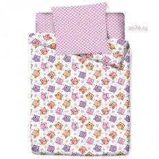 Детское постельное белье Маленькая Соня Совята (поплин)