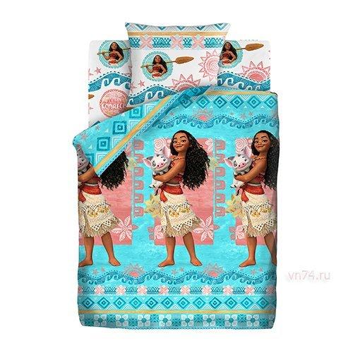 Детское постельное белье Моана Моана и Пуа (бязь-люкс)