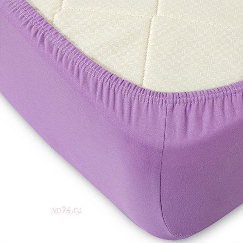 Простыня на резинке трикотажная Violett сирень (хлопок)
