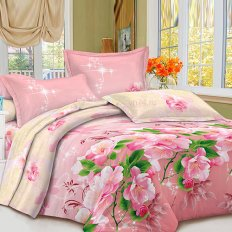 Постельное белье Satin collection Яблоневый цвет (микросатин)