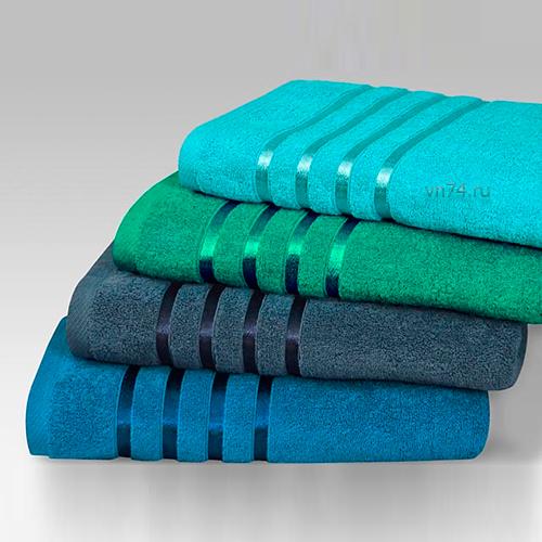 Полотенце махровое гладкокрашенное Эльф синий (хлопок)