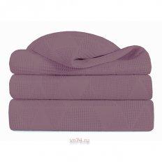 Плед жаккардовый Verossa пурпур-розовый (хлопок)