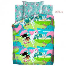 Детское постельное белье Нелла отважная принцесса Нелла рыцарь (поплин)