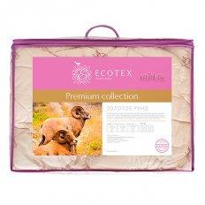 Одеяло облегченное Ecotex Золотое руно шерсть мериноса (хлопок)