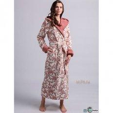 Халат женский махровый с капюшоном GABRIELLE Old Rose (бамбук)