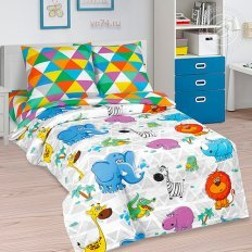 Детское постельное белье Арт-постель Весёлый зоопарк (поплин)
