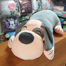 Детская подушка-плед Собачка серый