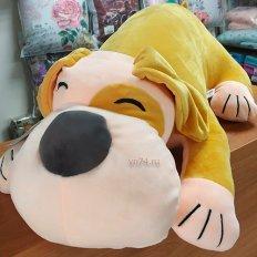 Детская подушка-плед Собачка желтая