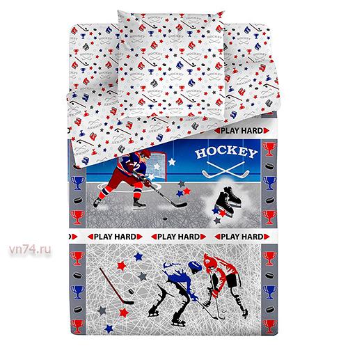 Детское постельное белье Bravo Kids Хоккей (поплин)