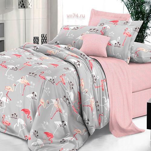 Постельное белье De Luxe Фламинго (сатин-люкс)