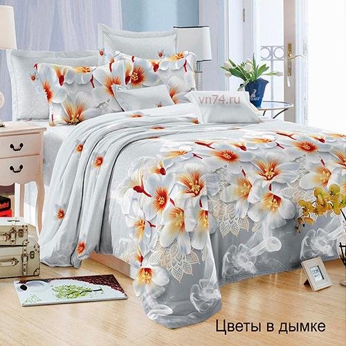 Постельное белье Felicita Цветы в дымке (микросатин)