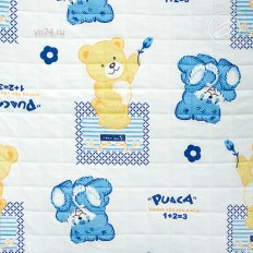 Детское одеяло-покрывало Арт-постель Медвежата (трикотаж)