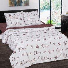Постельное белье с простыней на резинке Арт-постель Мокко (поплин)