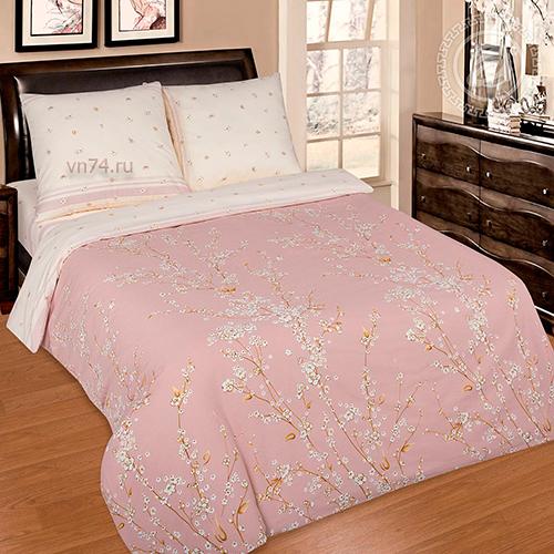 Постельное белье с простыней на резинке Арт-постель Сакура (поплин)