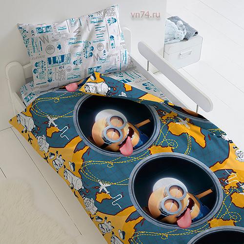 Детское постельное белье Миньоны 2 Иллюминатор (бязь-люкс)
