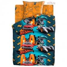 Детское постельное белье Hot Wheels Опасные гонки (бязь-люкс)