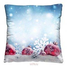 Подушка декоративная 40 x 40 Шары на снегу