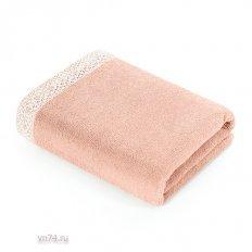 Полотенце махровое Verossa Merletto Розово-персиковый