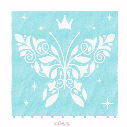 Полотенце детское Облачко Бабочка Нежно-бирюзовый