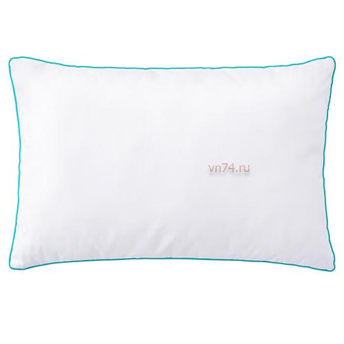 Детская подушка Облачко 35 x 55 Бирюзовый кант (бязь-гост)