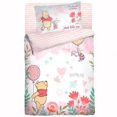 Детское постельное белье Облачко Winnie pooh (бязь-люкс)