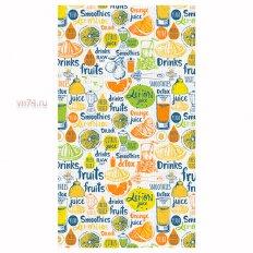 Полотенце вафельное Солнечный дом 35x70 Фруктовый пир (крупная клетка)