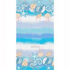 Полотенце вафельное Солнечный дом 35x70 Пляж (крупная клетка)