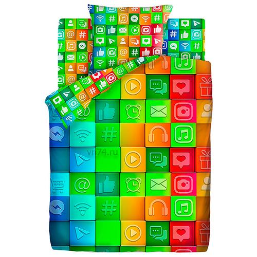 Детское постельное белье For You Социальные сети (бязь-люкс)