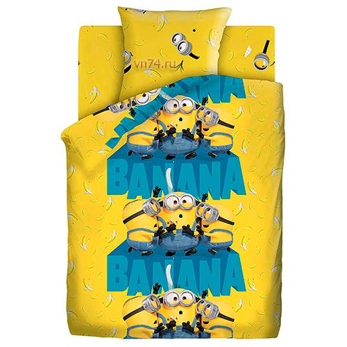 Детское постельное белье Миньоны 2 Банана (бязь-люкс)