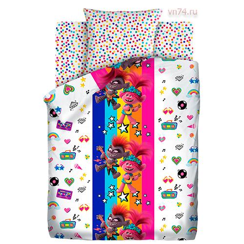 Детское постельное белье Trolls 2 Музыкальный баттл (бязь-люкс)