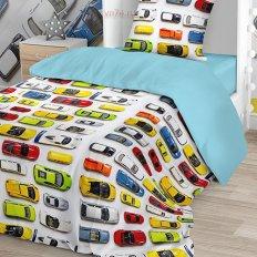 Детское постельное белье Juno Машинки (бязь-люкс)