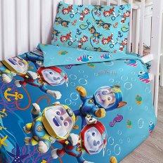 Детское постельное белье Щенячий Патруль Морские щенки (поплин)